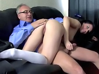 Slutty school girl gets...