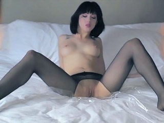 Brunette Cute Pantyhose Pussy Shaved Solo
