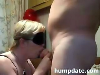 Blindfolded Mature Gives Bj And Gets Doggystyled