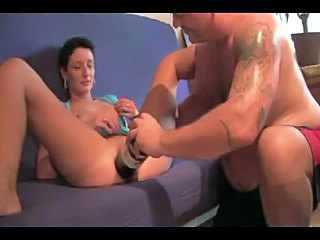 Amateur pussy bottle and fist