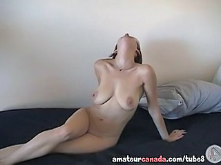 Cassie Hairy Wifey Fingering Pussy Blindfolded Big Tits