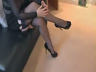 Legs Stockings Wife
