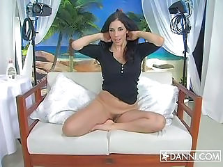Nympo Jelena Jensen Stripping Butt Naked On A Sofa And Teasing