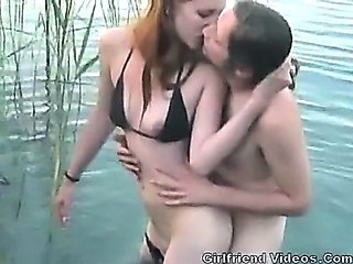 Amateur Beach Bikini Kissing Outdoor Swingers
