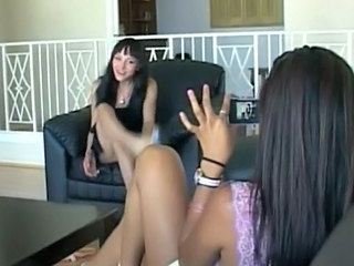 Lesbo Babe Filming Her