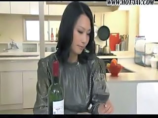 Amazing Asian Drunk Japanese Kitchen Pornstar Wife