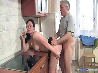 Brunette Doggystyle Hardcore Kitchen Mature Natural