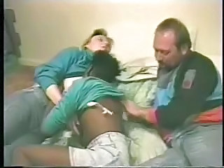 Horny Couple Has Fun With Younger Black Hooker. Home Made