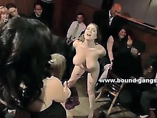 Skinny Blonde Fucked Violently In Extreme Deepthroat And Getting Spanked While Tied Upside Down