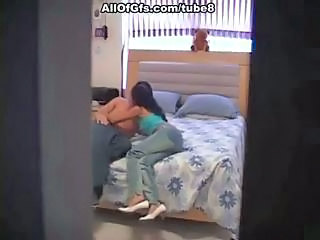 Young Amateur Couple Gets Caught On Hidden Spy Cam Having A Nooner