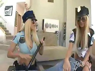 Police Girls Arrest A Guy And Tell Him To Satisfy Them Both