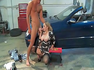 Hot Milf Aiden Starr Suck On The Mechanic's Cock And Fucks