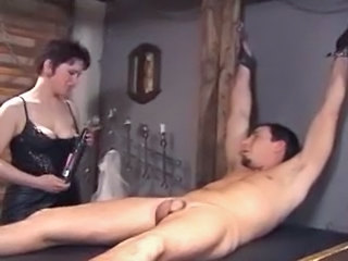 Horny Mistress Tortures Slave With Electricity