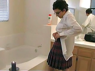 Bathroom Glasses Hairy Skirt