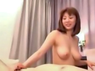 Asian Licking Nipples And Jerking Cock