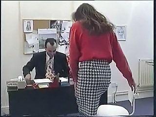 British European MILF Office Pornstar Skirt