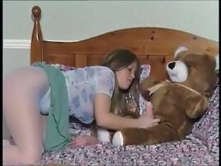 Brunette Mignon Masturbation Collants Ados