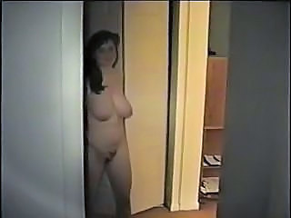 Big tit chubby does her first solo and blowjob and her webcam