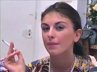 Amateur Amazing Brunette Smoking