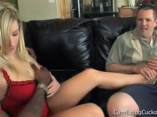 Amazing Big Tits Blonde Hardcore Interracial Pornstar Threesome
