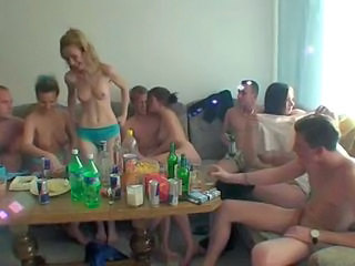 Drunk European Groupsex Orgy Party Public Student