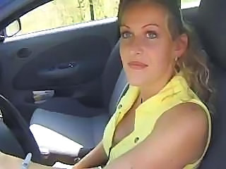 Amateur Blonde Car European French MILF