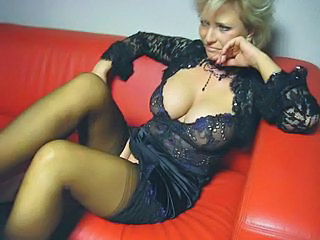 Big Tits Blonde Mature Pornstar Stockings