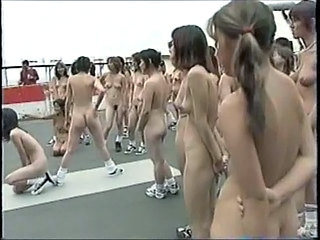 Asian Japanese Nudist Outdoor Public