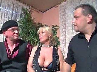 Big Tits Blonde European German MILF Pornstar Threesome