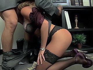 Blowjob Lingerie Office Secretary Stockings