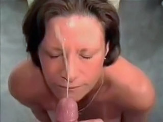 Brunette Cumshot Facial Mature