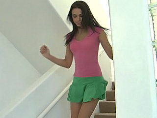 Babe Brunette Cute Sister Skirt