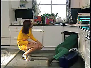 Amateur Brunette Kitchen MILF Wife