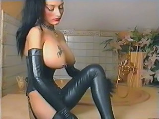 Big Tits Brunette Goth Latex MILF Pornstar