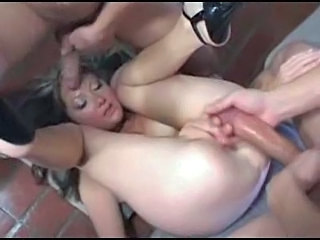Uk Girl takes thre cocks at once