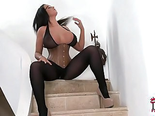 Big Boobed Emma Butt In Tight Corset Shows Off Her Amazingly Sexy Curv...