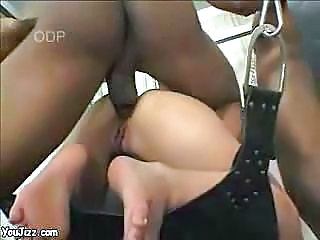 Japanese chick goes black - (hot