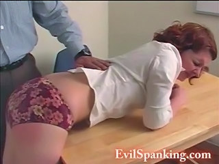 Brutal Schoolgirl Gets Her Ass Spanked