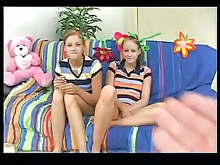 Amateur Brunette Skinny Teen Twins