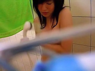 Chinese Student shower spycam by bigpete