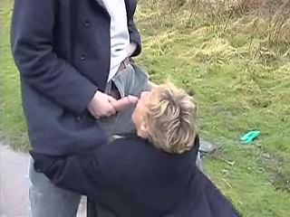 Blowjob British Mature Outdoor