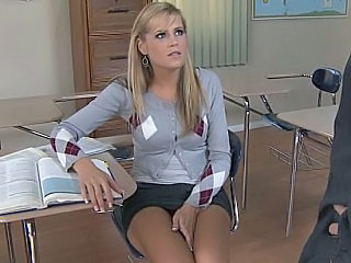 Blonde Pantyhose Student Teen