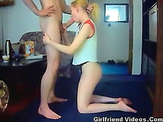 Blonde Blowjob Handjob Homemade Teen