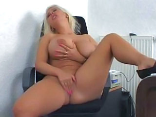 Huge Tits Blonde Solo Masturbation