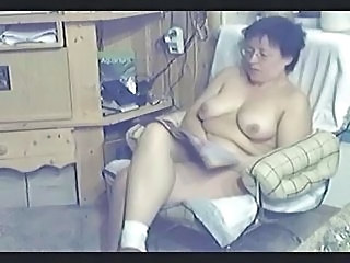 Watch My Mom Home Alone Masturbating In Living Room