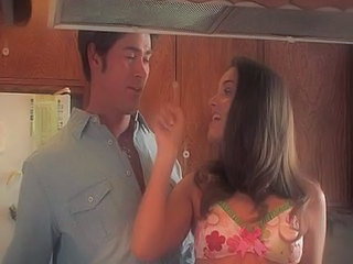 Amazing Brunette Kitchen Pornstar