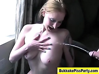 Amateur Blonde Bukkake Pissing Small Tits