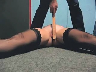 Whipping pussy of my submissive...
