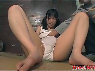 Hogtied Asian Gets Her Ass Hole Fingered