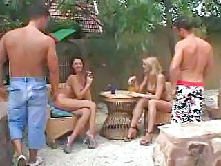 Swingers wild banging outdoor